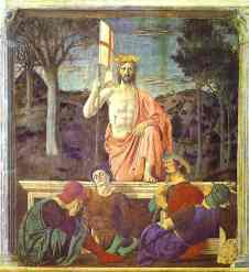 The Resurrection by Piero della Francesca, 1450-1463.