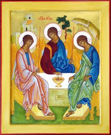 Trinity Icon based upon the original by Andrei Rublev, c. 1408-25