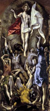 The Resurrection by El Greco, Madrid, 1596-1600.
