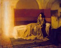 The Annunciation by Henry Ossawa Tanner, Philadelphia, 1898.